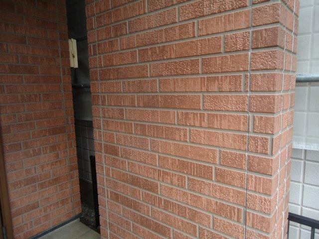 外壁タイル調サイディング無機クリヤー塗装施工前