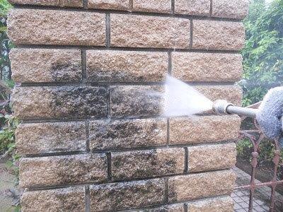外塀高圧洗浄