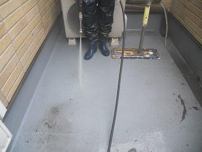 バルコニー床高圧洗浄