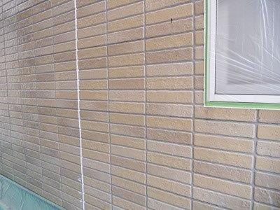 外壁サイディングフッ素塗料下塗り一層目塗装完了
