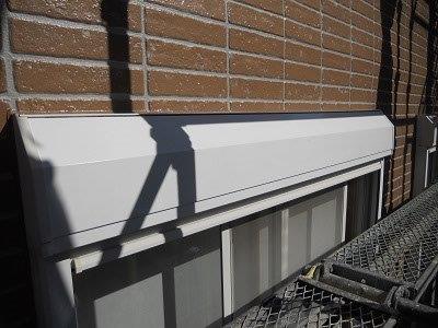 外壁付帯部シャッターボックス塗装完了