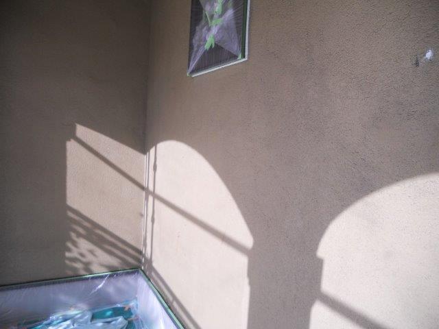 外壁無機塗料下塗り一層目塗装完了