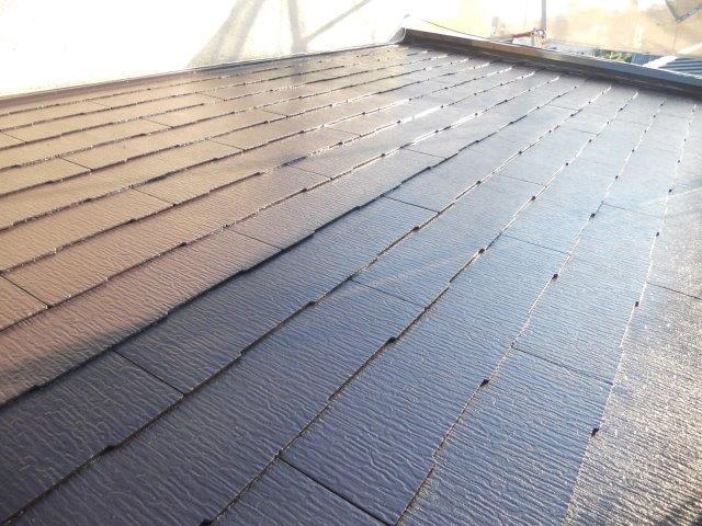 屋根カラーベスト無機塗料上塗り二層目塗装完了