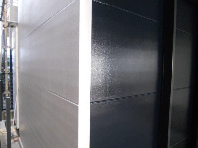 外壁ALC断熱塗料トップコート塗装完了