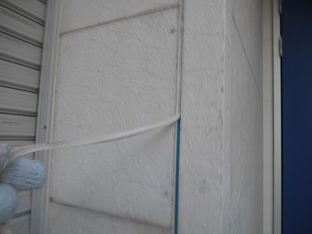 外壁サイディング目地既存コーキング撤去