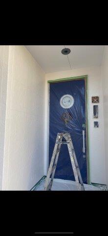 外壁サイディングフッ素塗料上塗り一層目塗装完了