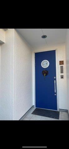 外壁サイディングフッ素塗料上塗り二層目塗装完了