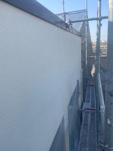 外壁モルタル面塗装施工前