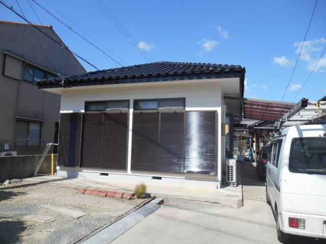 外壁サイディング無機塗料塗装 外壁付帯部塗装工事完了