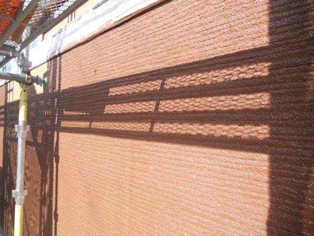 外壁サイディング鎧F(フッ素塗料)上塗り二層目完了