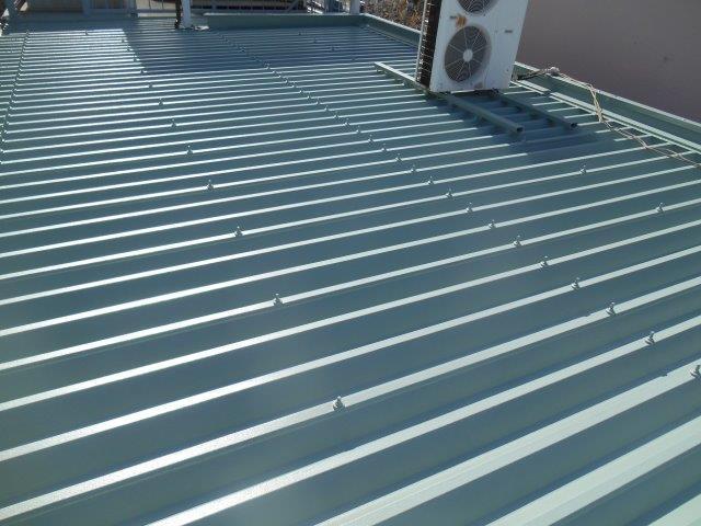 愛知県名古屋市中村区 屋根塗装工事施工事例(折板屋根部断熱塗料塗装) K様 3