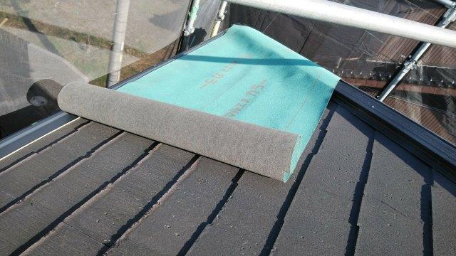 屋根パミール防水シート張り