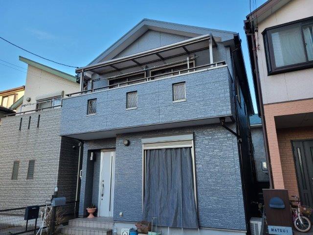 屋根無機塗料塗装工事 外壁フッ素塗料塗装工事 外壁付帯部塗装工事 バルコニー防水工事完了