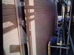 外壁サイディング断熱塗料塗装上塗り塗装完了