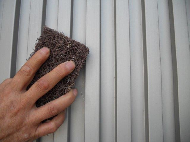 外壁ガルバリウム鋼板素地調整