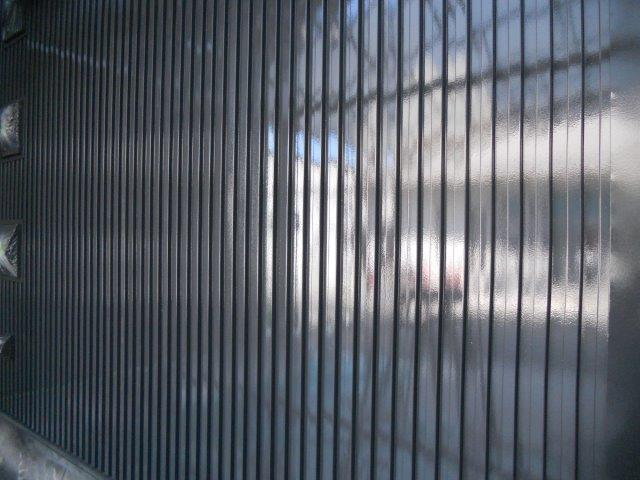 外壁ガルバリウム鋼板無機塗料塗装中塗り塗装完了