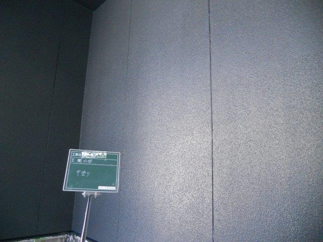 外壁サイディングアクセント部シリコン塗料塗装中塗り塗装完了