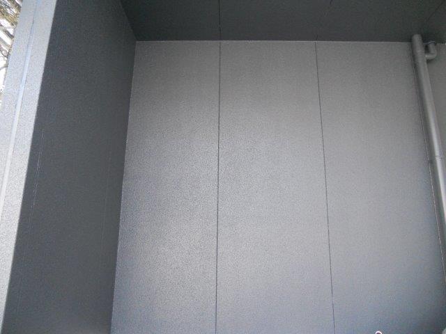 外壁サイディングアクセント部シリコン塗料塗装上塗り塗装完了