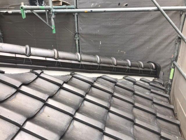 屋根漆喰工事完了