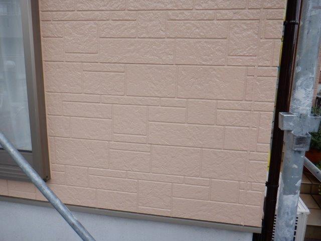 外壁サイディング目地無機塗料塗装上塗り塗装完了