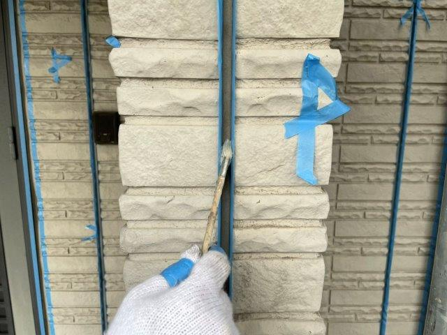 外壁サイディング目地コーキング打ち替えコーキングプライマー塗布