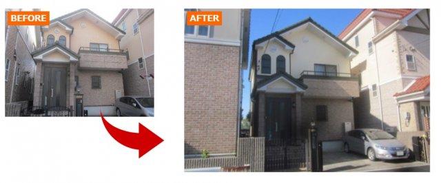 付帯部の色との相性の良い外壁塗装