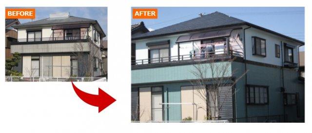 比率を意識した外壁塗装例