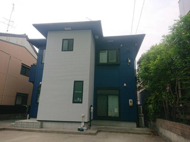 屋根サイディングフッ素塗料塗装工事 外壁サイディングフッ素塗料塗装工事 外壁付帯部塗装工事 バルコニー防水工事完了