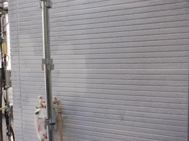 外壁サイディングフッ素塗料塗装下塗り塗装完了