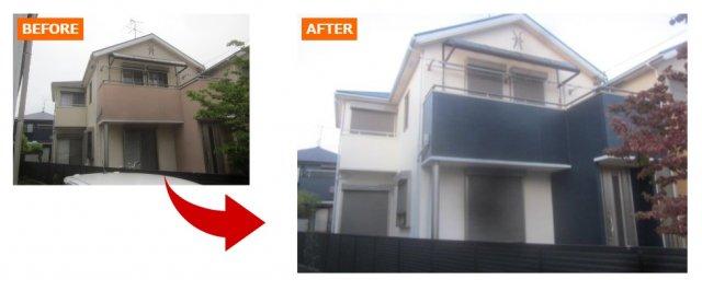 イメージがガラリと変わった外壁塗装例