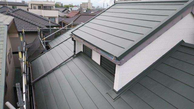 屋根板金張替完了