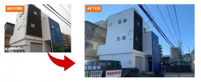 モダンでシックな色合いの外壁塗装例